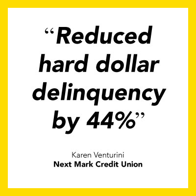 Credit union collections software testimonial from Next Mark Credit Union.