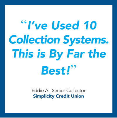 Credit union collections software quote - Simplicity Credit Union.