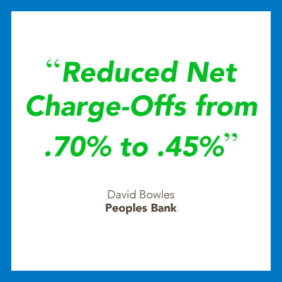 Debt collection software for banks quote from Peoples Bank.